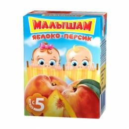 """Сок для детей """"Малышам"""" яблоко-персик"""