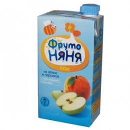 Сок ФрутоНяня из яблок и персиков