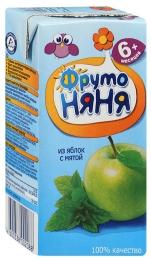 Сок ФрутоНяня из яблок с мятой