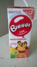 """Сок с мякотью """"Винни"""" Мультифрукт"""