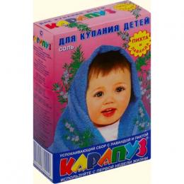 """Соль для купания детей """"Карапуз"""" с первой недели жизни успокаивающий сбор с лавандой и пихтой"""