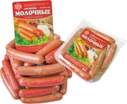 """Сосиски """"Молочные"""" Русские колбасы"""