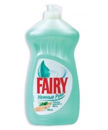 Средство для мытья посуды ''Fairy'' нежные руки с чайным деревом и мятой