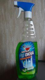 """Средство для мытья стекол """"Золушка"""" Чистые окна с ароматом зелёного яблока."""