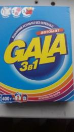 """Стиральный порошок Gala автомат """"Яркие цвета"""" 3 в 1"""
