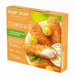"""Стрипсы куриные """"Мираторг"""" в картофельной панировке"""