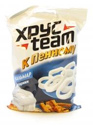 """Сухарики ХрусTeam """"К пенному"""" со вкусом кальмара"""