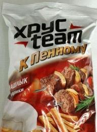 """Сухарики ХрусTeam """"К пенному"""" со вкусом шашлыка"""