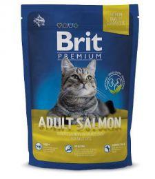 Сухой корм для для взрослых кошек Brit Premium Adult Salmon