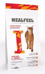 Сухой корм для кошек Mealfeel с курицей и индейкой Indoor