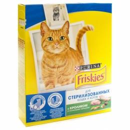 Сухой корм для кошек Purina Friskies для стерилизованных кошек и котов с кроликом и полезными овощам