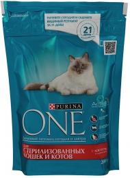Сухой корм Purina One для стерилизованных кошек и котов