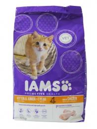 Сухой корм для котят с курицей Iams ProActive Health Kitten & Junior