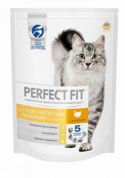 Сухой корм Perfect Fit Sensitive для кошек с чувствительным пищеварением с индейкой