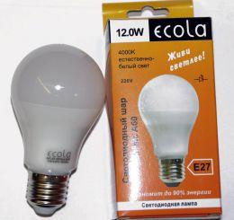 Светодиодная лампа Ecola classic LED 12,0 W A60 220 - 240V E27 4000K