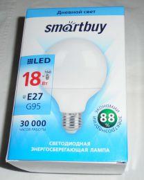 Светодиодная лампа SmartBuy 18Вт E27 G95
