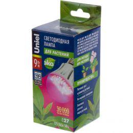 """Светодиодная лампа Uniel LED """"ЭКО"""" для растений 9W E27"""