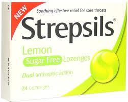 Таблетки от горла Strepsils Lemon Sugar Free Lozenges