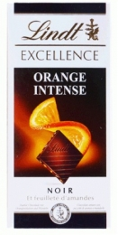 "Темный шоколад ""Lindt"" Noir Excellence Orange Intense 53%"