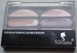 Тени для век Eye Brightening All-in-one 6 Shadow Silvana 6 цветов арт. 436897