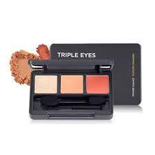 Тени для век The Face Shop face it styling triple eyes