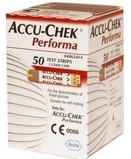 Тест-полоски Accu-Chek Performa для измерения сахара крови глюкометром