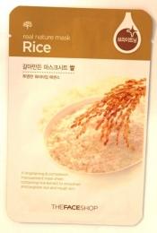 Тканевая маска The Face Shop Real Nature Mask Rice
