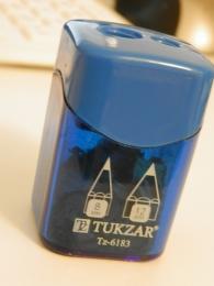 Точилка Tukzar TZ-6183 двойная, пластиковая, с контейнером