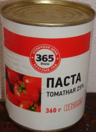 """Томатная паста """"365 дней"""" 25%"""