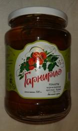 Томаты маринованные красные, бурые «Гарнирио» Высший сорт