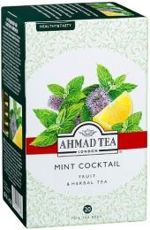 Травяной чай Ahmad Tea Mint Cocktail с мятой и лимоном, в пакетиках
