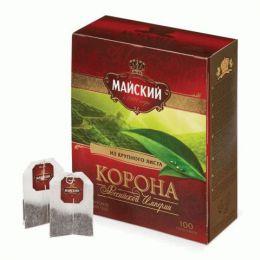 Цейлонский черный байховый чай Майский в пакетиках Корона Российской империи