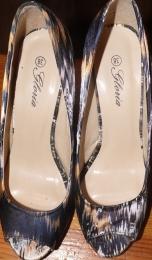 Туфли «Поплин черный» Gloria арт. 58773