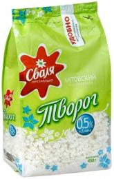 """Творог """"Сваля"""" Литовский классический обезжиренный 0,5%"""