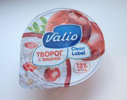"Творог Valio ""Clean Label"" с вишней 3,5%, 13% ягод"
