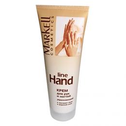 Укрепляющий крем для рук и ногтей Markell Cosmetics Line Hand c экстрактом льна и морской солью