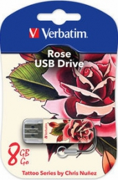 "USB-флешка Verbatim Tattoo Series by Chris Nunez ""Rose"""