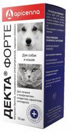 """Ушные капли для кошек и собак Apicenna """"Декта Форте"""""""