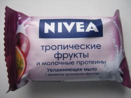 """Увлажняющее мыло Nivea """"Тропические фрукты и молочные протеины"""" С ароматом тропических фруктов"""