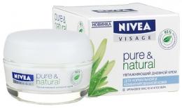 Увлажняющий дневной крем Pure & Natural Nivea аргановое масло и алое вера