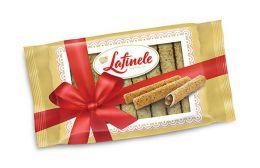 """Вафельные трубочки с шоколадной начинкой в глазури с арахисом """"Lafinele"""""""