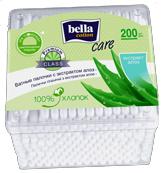 Ватные палочки Bella Cotton Care с экстрактом алоэ