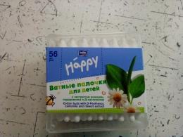 """Ватные палочки для детей Bella baby """"Happy"""" с экстрактом ромашки, подорожника и Д-пантенолом"""