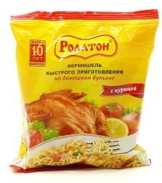 Вермишель быстрого приготовления «Роллтон» вкус курицы