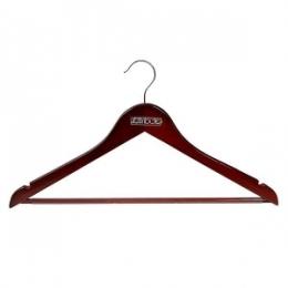 Вешалка Attribute прямая с антискользящей перекладиной, цвет: красное дерево