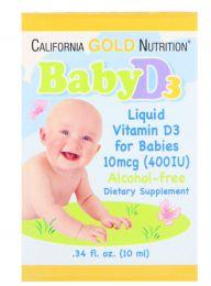 Витамин D3 детские капли California Gold Nutrition