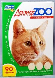 """Витамины для кошек """"Доктор Zoo. Здоровье и красота"""""""