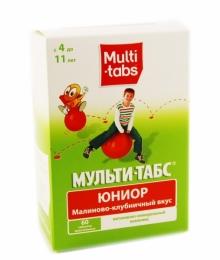 """Витамины Мульти-Табс """"Юниор"""" малиново-клубничный вкус"""