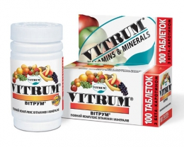 """Витамины """"Витрум"""" с бета-каротином, полный комплекс витаминов и минералов"""