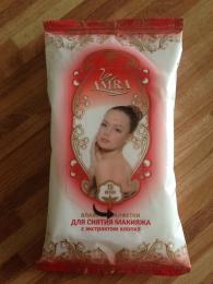 """Влажные салфетки """"Amra"""" для снятия макияжа с экстрактом хлопка"""
